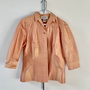 Alfani Silk Gold Blouse